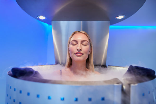 cryotherapy chambers woman getting cold therapy