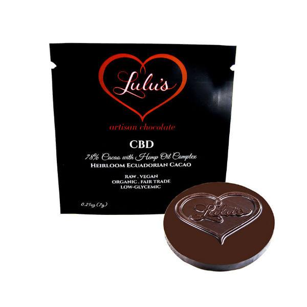 cbd minis lulu's chocolate
